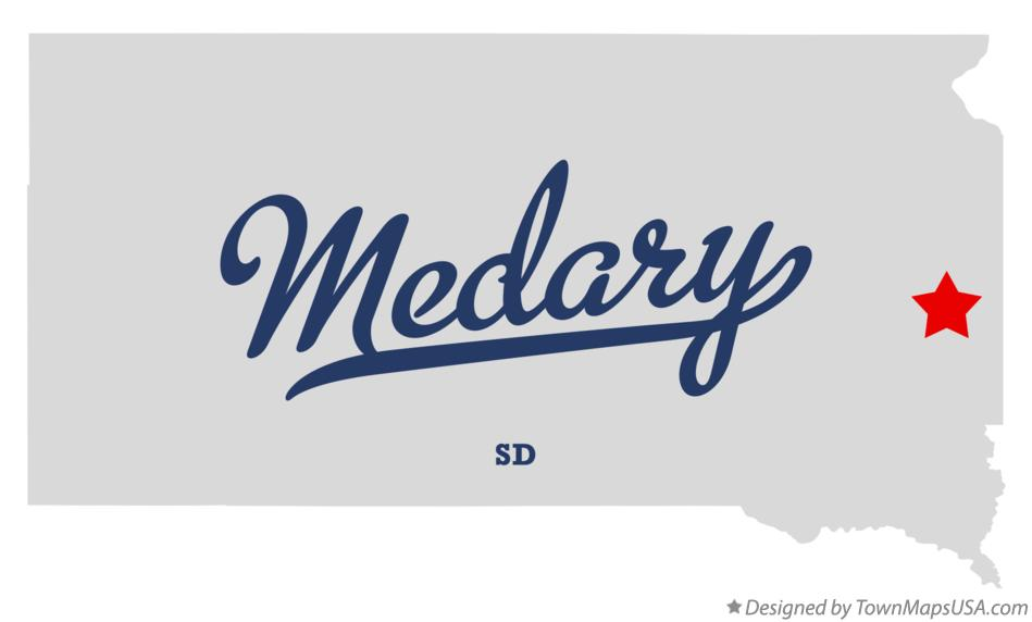 Map of Medary South Dakota SD