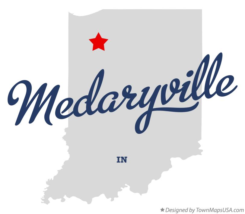 Map of Medaryville Indiana IN