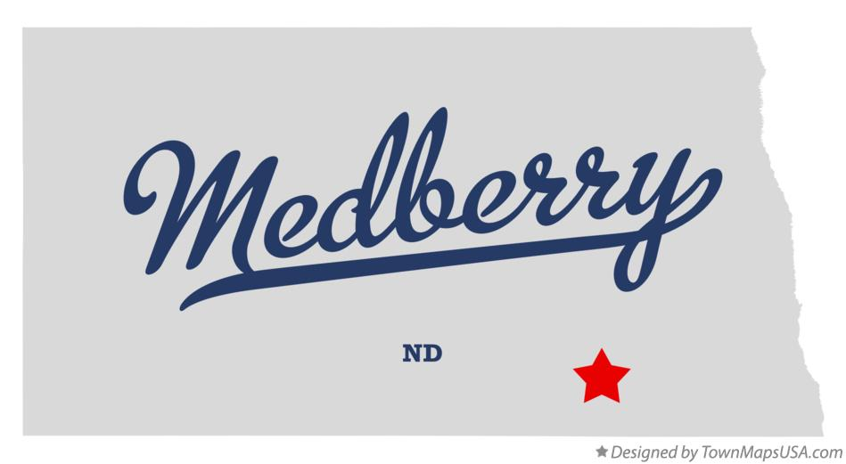 Map of Medberry North Dakota ND