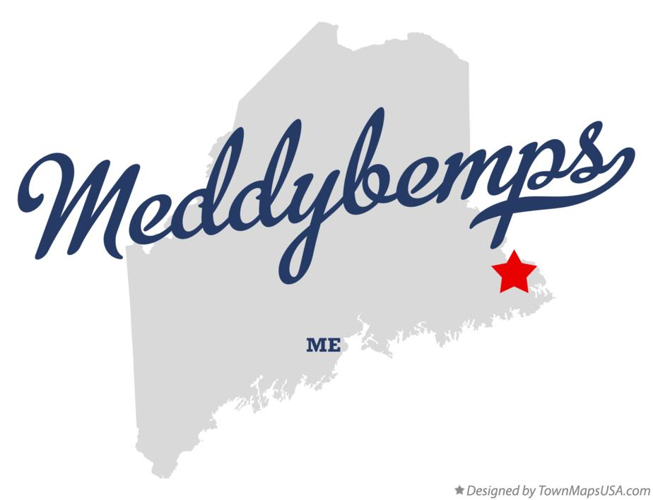 Map of Meddybemps Maine ME