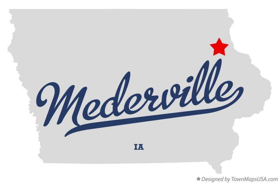 Map of Mederville Iowa IA