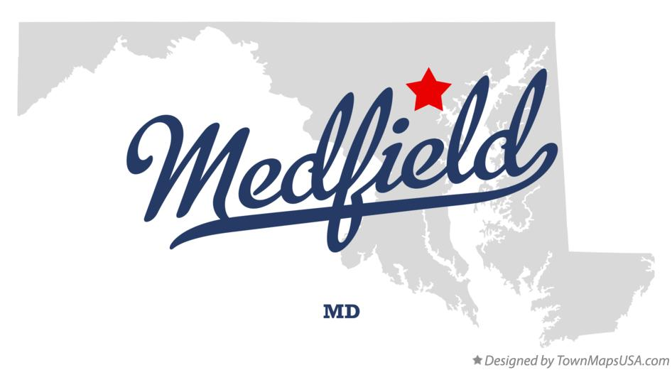 Map of Medfield Maryland MD