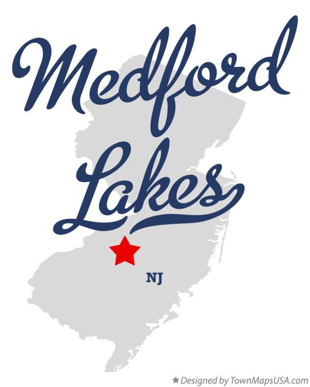 Map of Medford Lakes New Jersey NJ