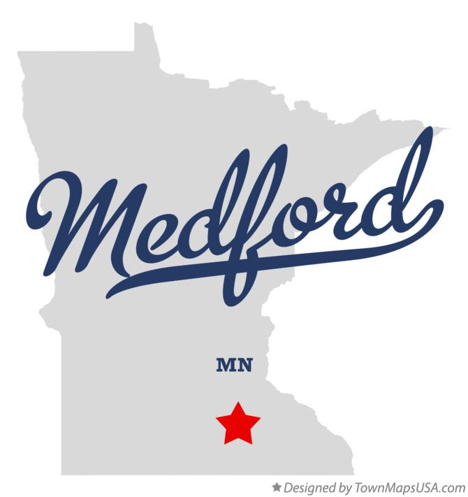 Map of Medford Minnesota MN
