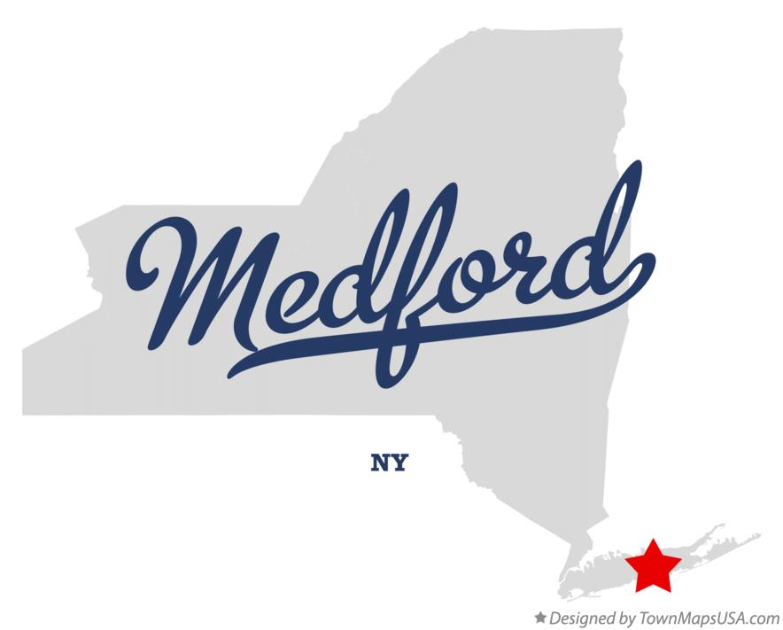 Map of Medford New York NY