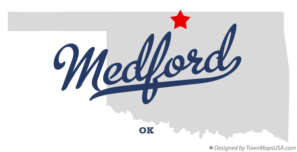 Map of Medford Oklahoma OK