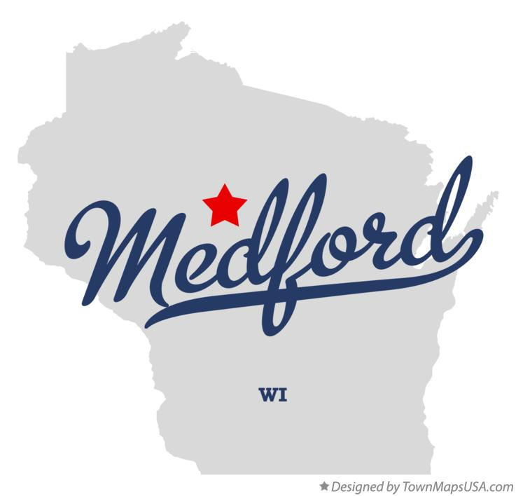 Map of Medford Wisconsin WI