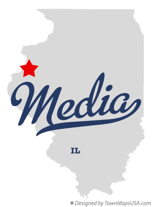 Map of Media Illinois IL