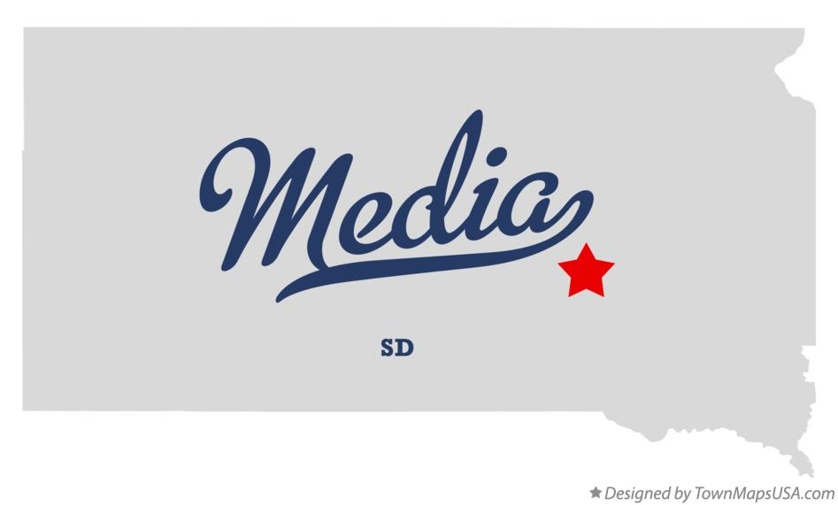 Map of Media South Dakota SD