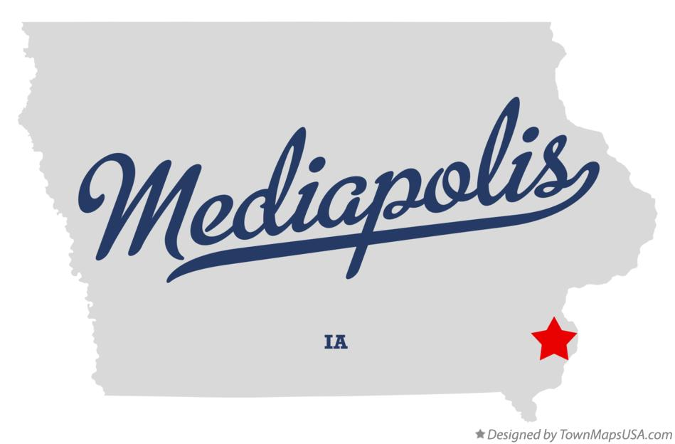 Map of Mediapolis Iowa IA