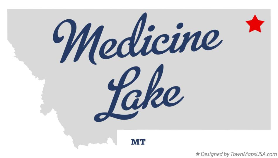 Map of Medicine Lake Montana MT