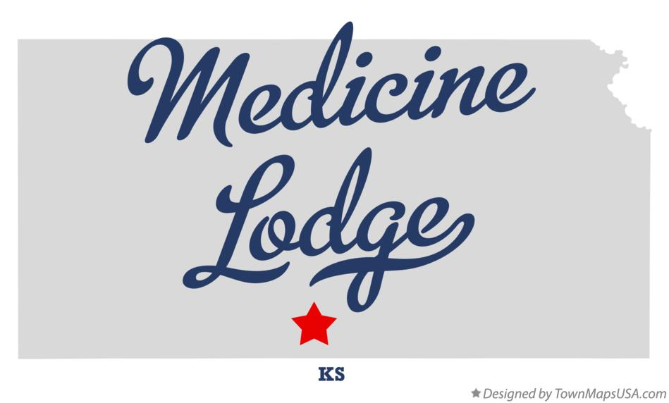 Map of Medicine Lodge Kansas KS