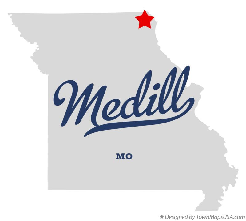 Map of Medill Missouri MO