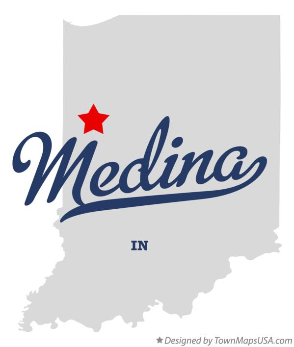 Map of Medina Indiana IN