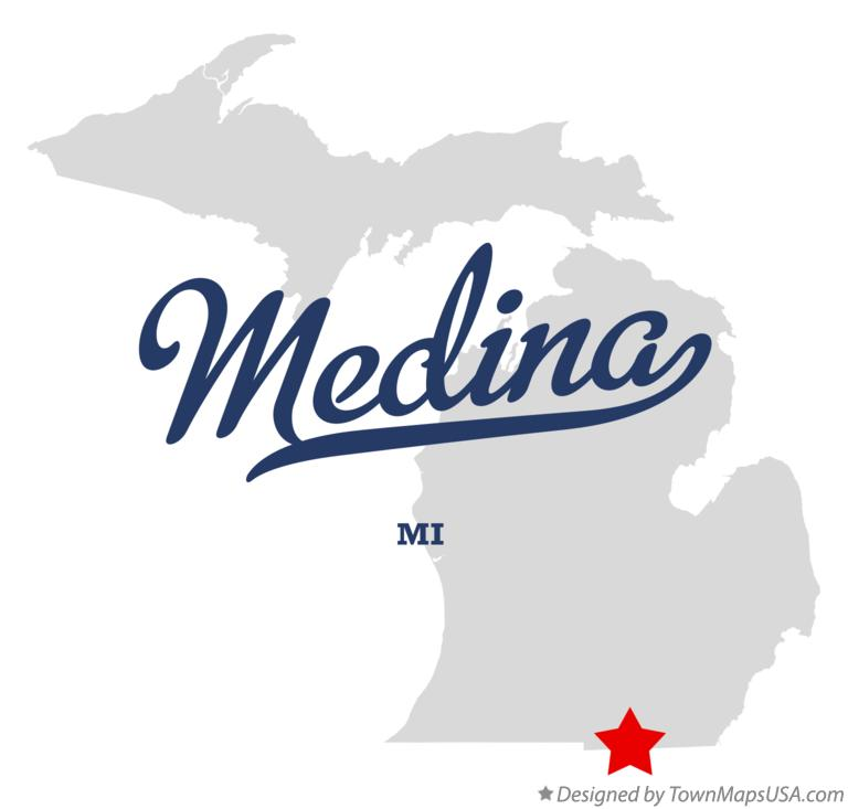 Map of Medina Michigan MI