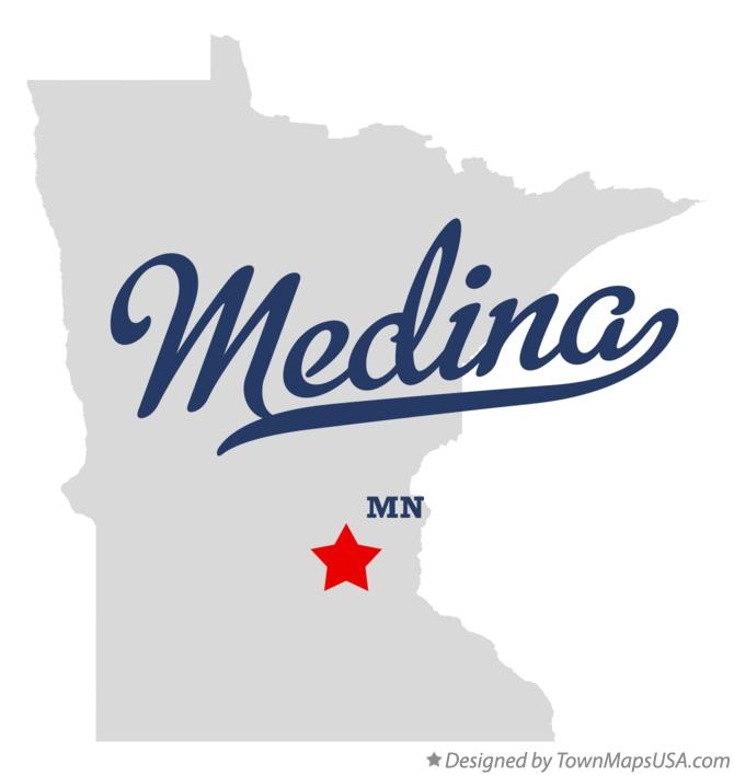 Map of Medina Minnesota MN
