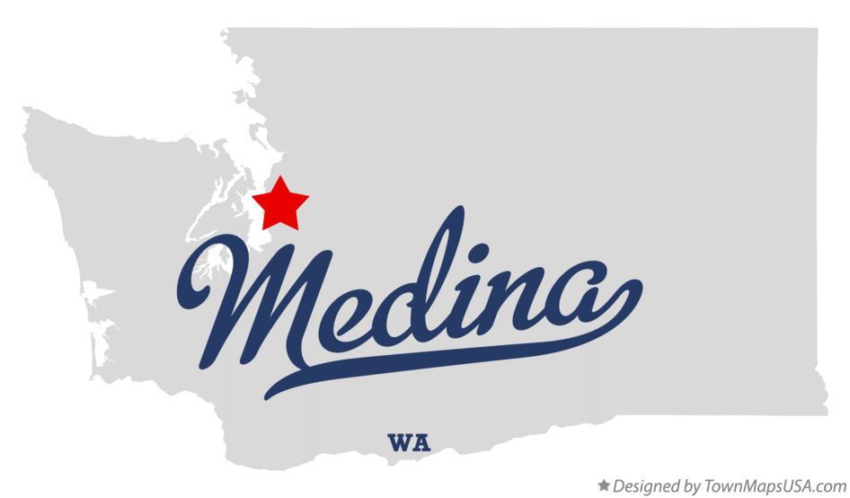 Medina Washington Map.Map Of Medina Wa Washington