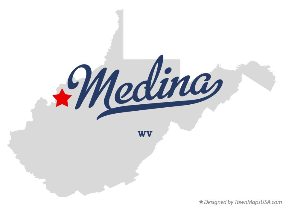Map of Medina West Virginia WV