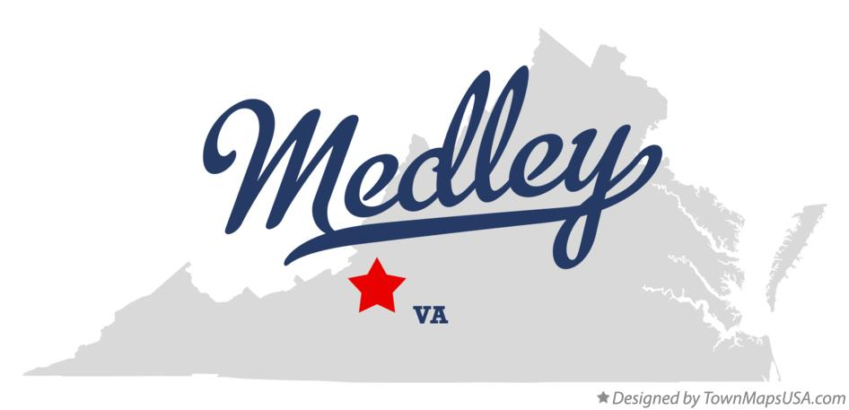 Map of Medley Virginia VA