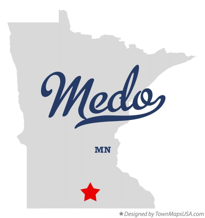 Map of Medo Minnesota MN