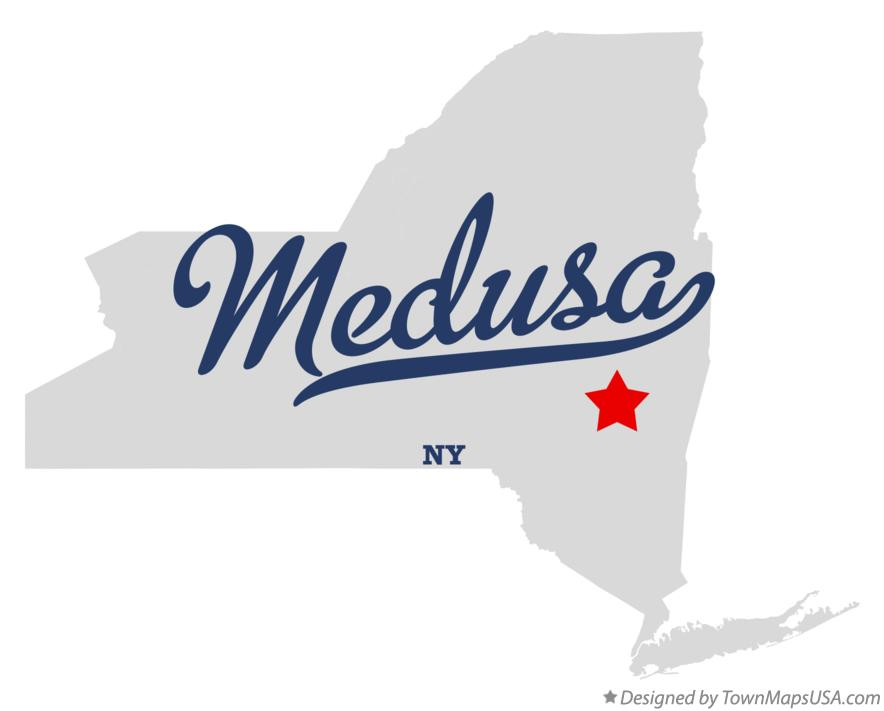 Map of Medusa New York NY