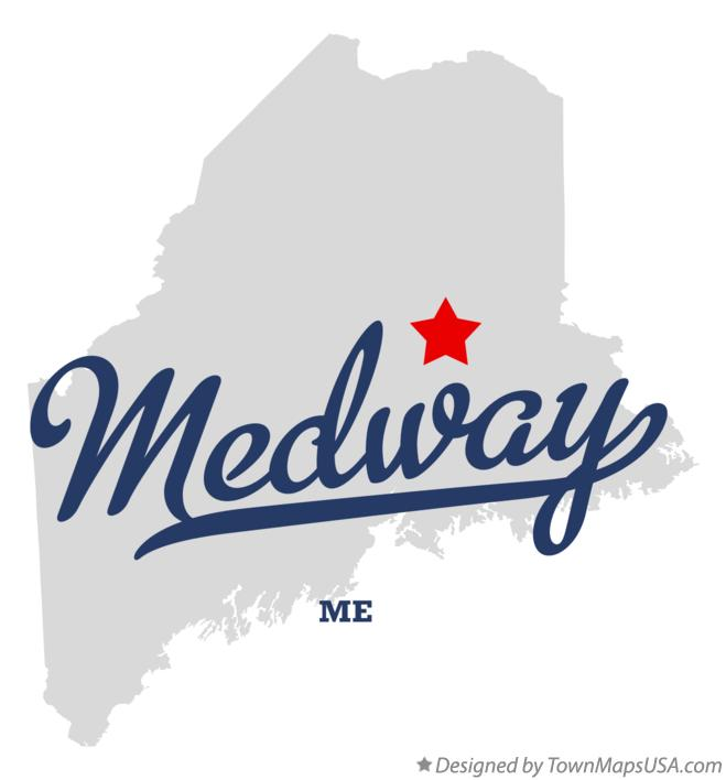 Map of Medway Maine ME