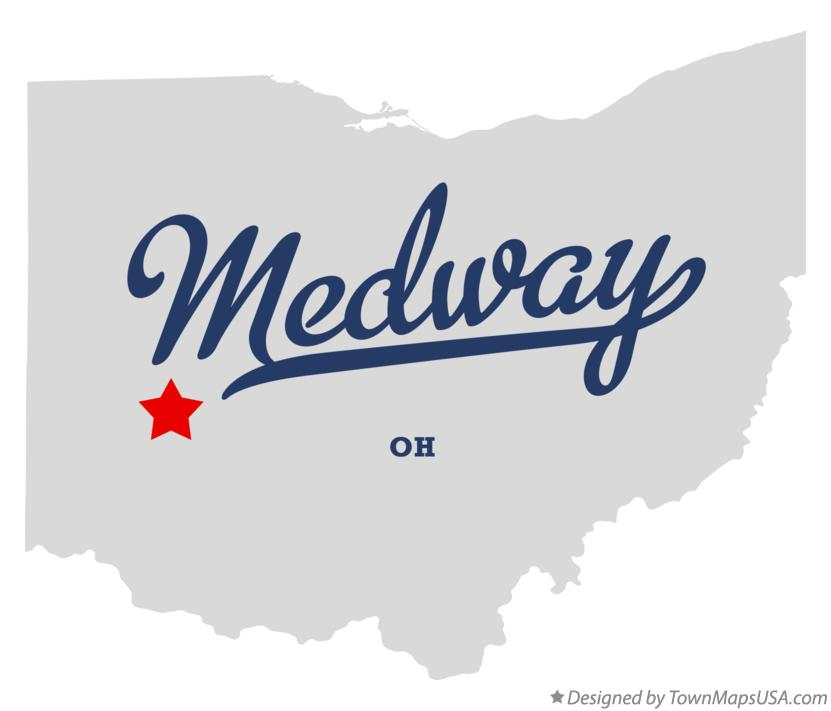 Map of Medway Ohio OH