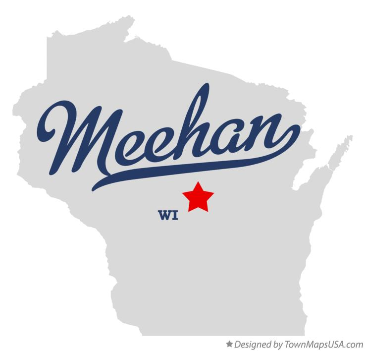 Map of Meehan Wisconsin WI