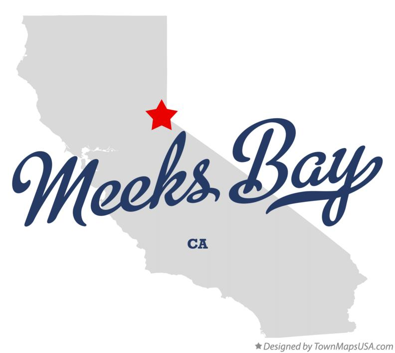 Map of Meeks Bay California CA