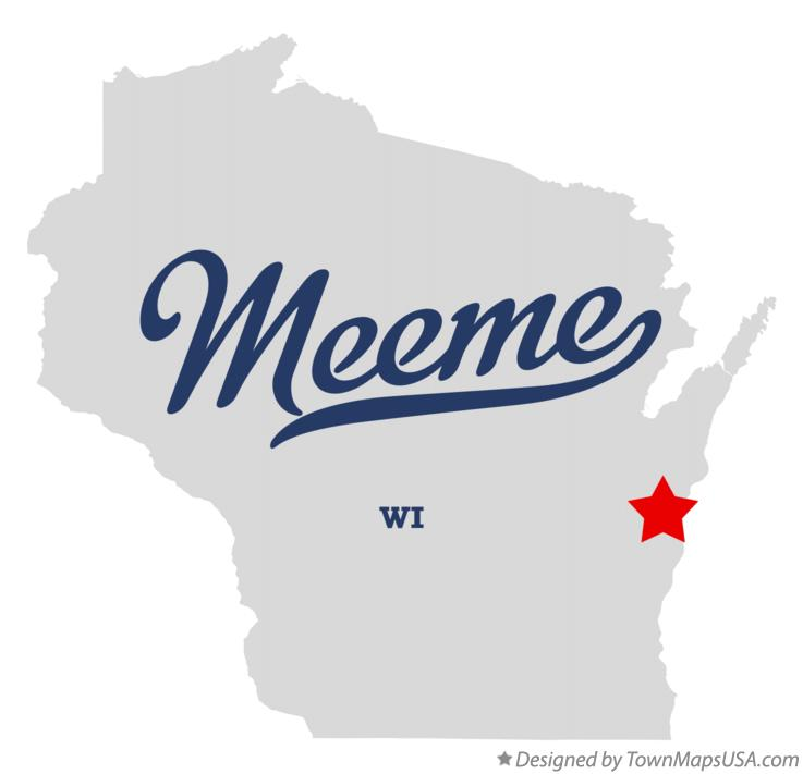 Map of Meeme Wisconsin WI