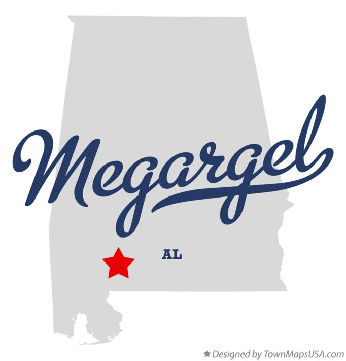 Map of Megargel Alabama AL
