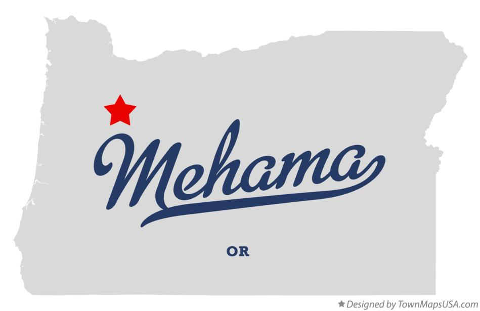 Map of Mehama Oregon OR