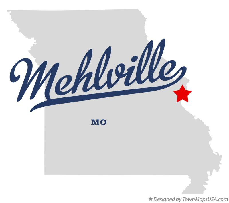 Map of Mehlville Missouri MO