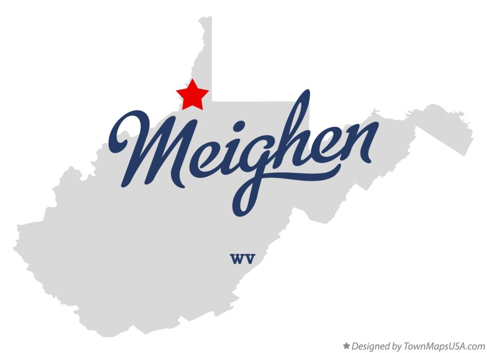 Map of Meighen West Virginia WV