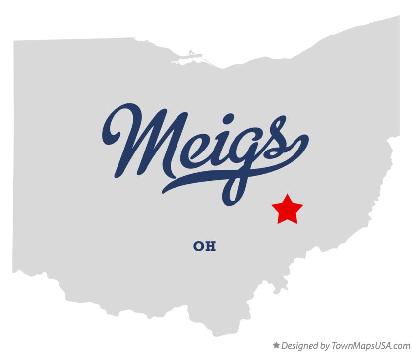 Map of Meigs Ohio OH