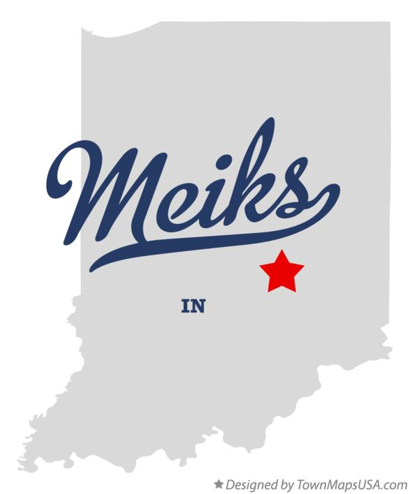 Map of Meiks Indiana IN