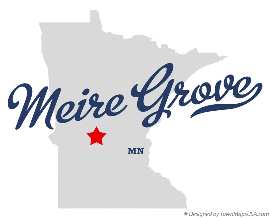 Map of Meire Grove Minnesota MN