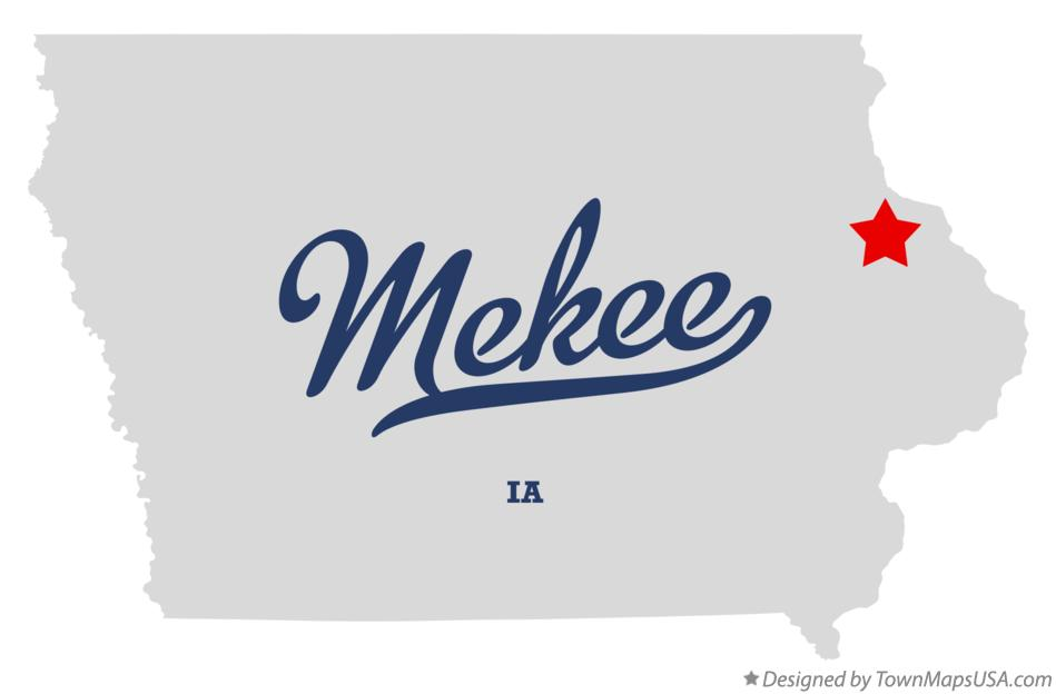 Map of Mekee Iowa IA
