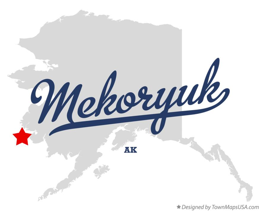 Map of Mekoryuk Alaska AK