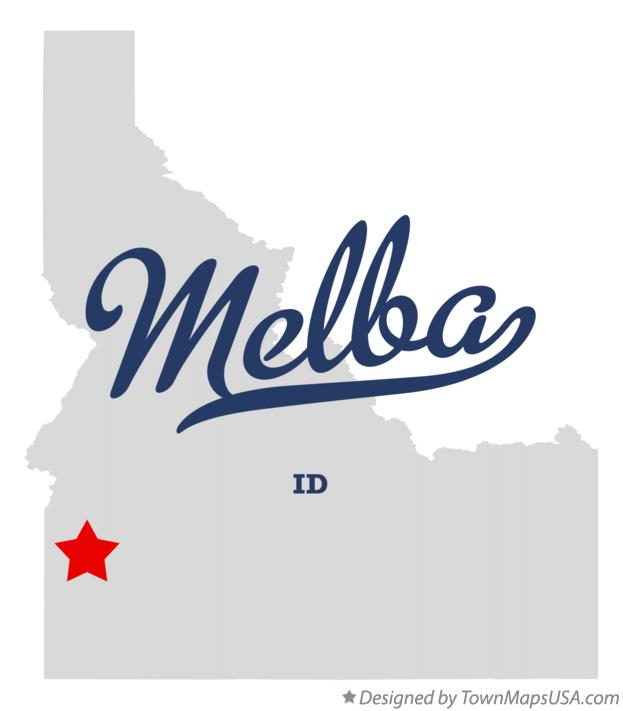 Melba Idaho Map.Map Of Melba Id Idaho