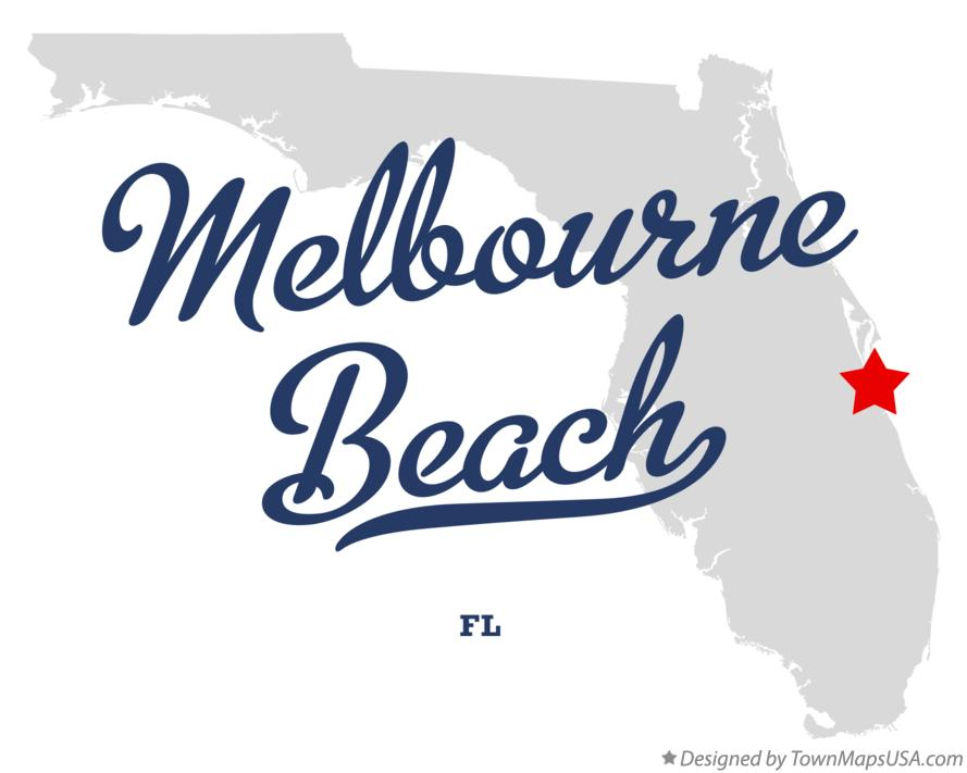 Map Of Melbourne Beach Florida.Map Of Melbourne Beach Fl Florida