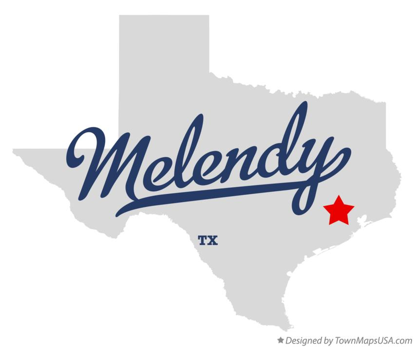 Map of Melendy Texas TX