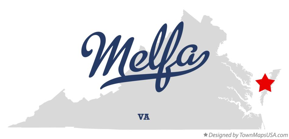 Map of Melfa Virginia VA