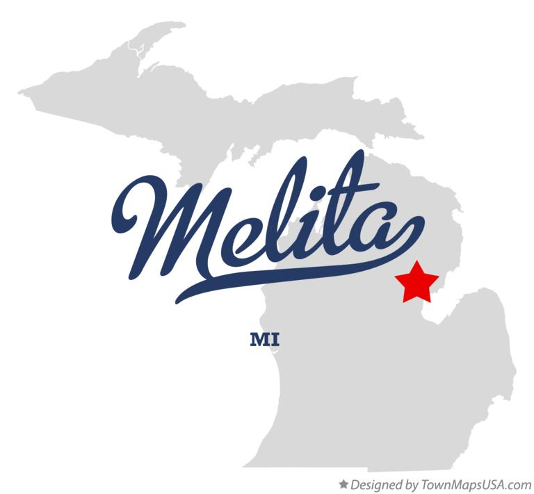 Map of Melita Michigan MI