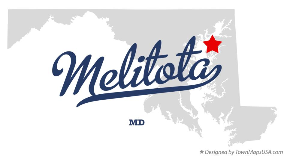 Map of Melitota Maryland MD