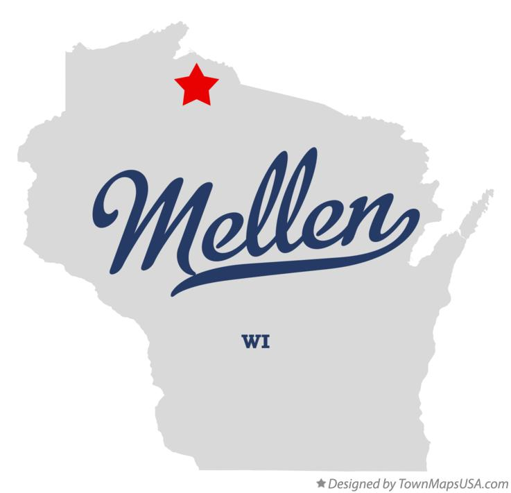 Map of Mellen Wisconsin WI