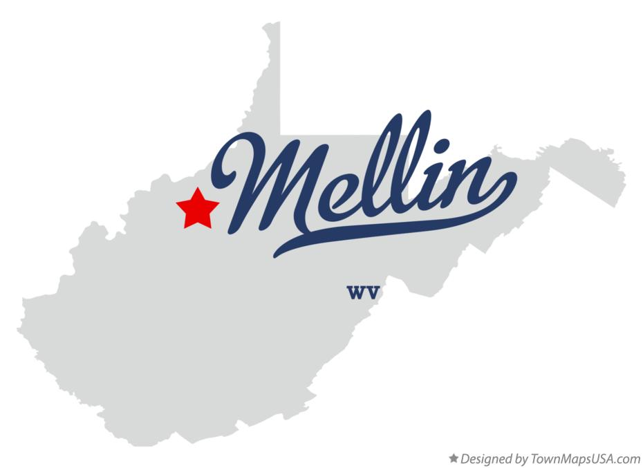 Map of Mellin West Virginia WV