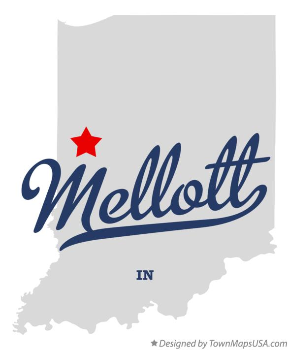 Map of Mellott Indiana IN