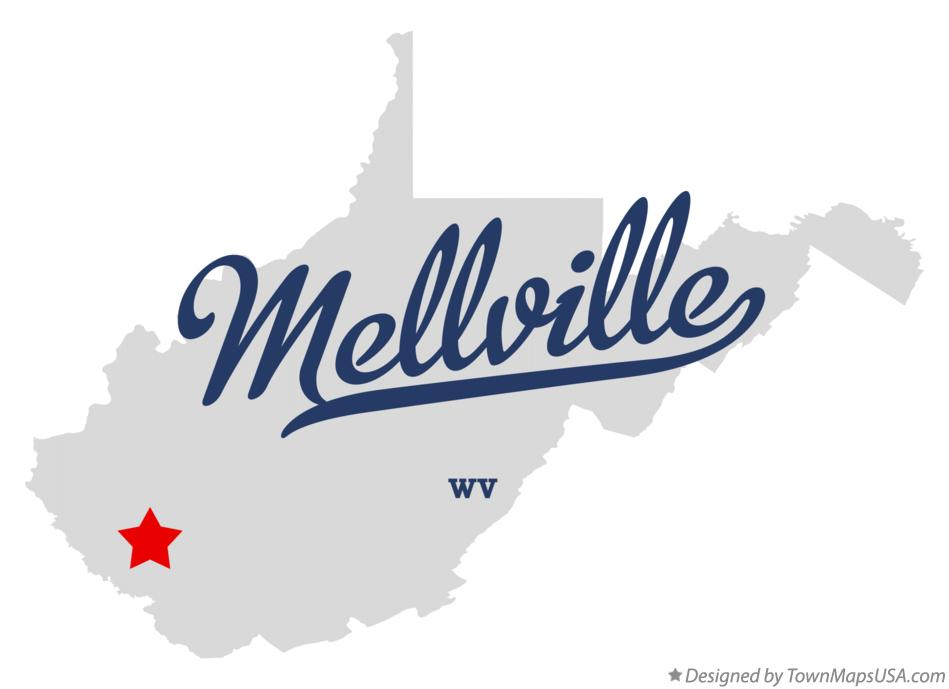 Map of Mellville West Virginia WV