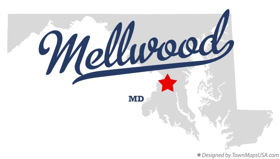 Map of Mellwood Maryland MD